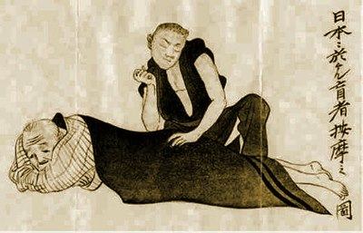 Une ancienne affiche de la pratique Shiatsu