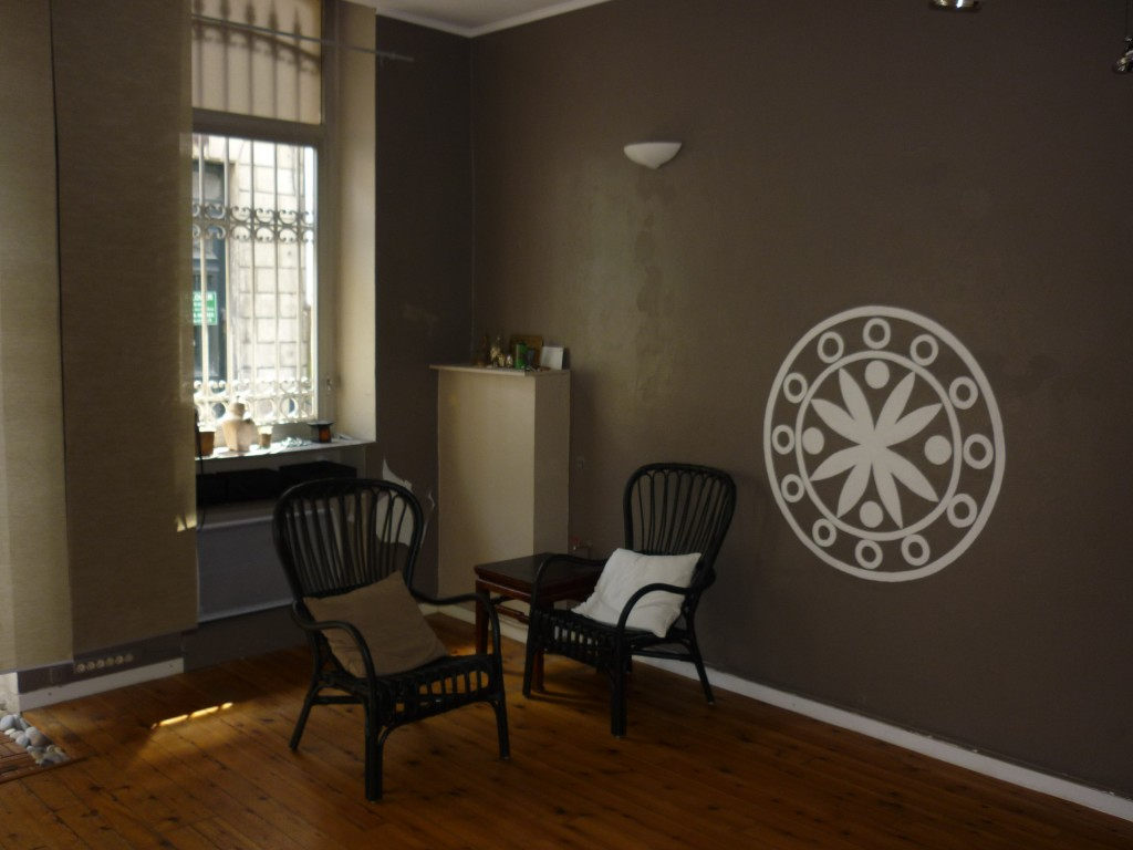 Mandala sur le mur de la maison de Zen Shiatsu